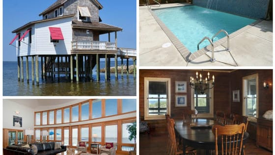 Unique features and amenities like you've never seen before... take a look at these incredible beach homes available for rent on the OBX!
