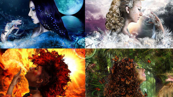 Fire, Water, Earth and Air. Which one do you have the potential to control?