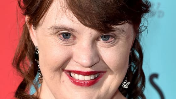 "The ""American Horror Story"" star, Jamie Brewer, walked down the runway at a fashion show with the theme ""Role Models Not Runway Models."""