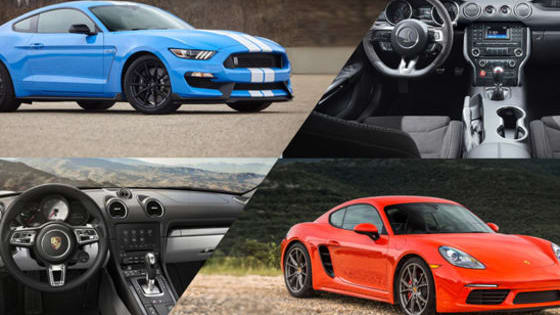Which sports car would YOU rather own, the Porsche Cayman S or Shelby GT350?