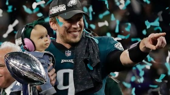 In Super Bowl LII, the Philadelphia Eagles defeated the New England Patriots and received the Lombardi Trophy for the first time in team history. The game featured two high-powered offenses, several spectacular plays, and impressive individual performances. Relive the excitement of Super Bowl LII through this trivia quiz!