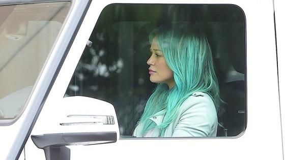 Who rocks blue hair best?