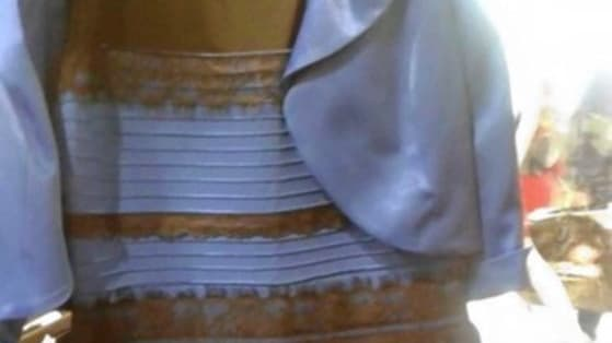 Do you see blue and black? Gold and white? Play this to tell us!