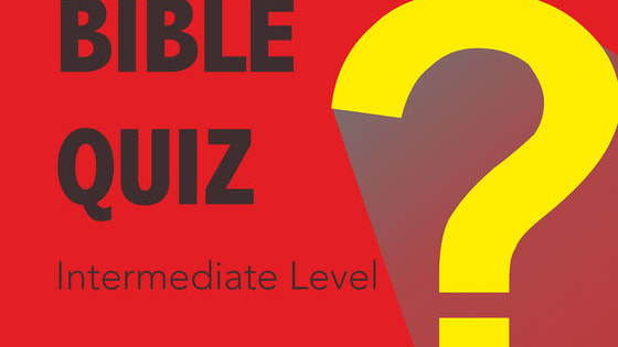 Challenge yourself with this intermediate-level Bible quiz. Make sure to revisit the referenced Bible passages  if you missed any! Go  to TalkAmen.com for MORE quizzes and fun!