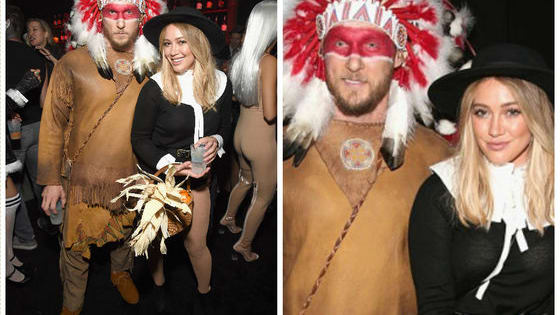 Hilary Duff and her current boyfriend, Jason Walsh, made their red carpet debut together, but their attire was quite controversial. What do you think of the costumes?