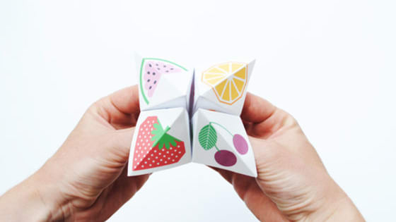 Using our paper fortune teller, we're gonna tell your future.