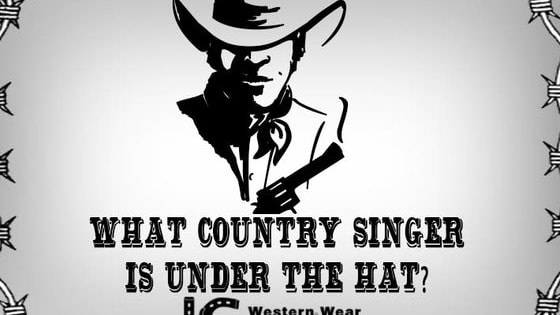 Name the country singer that is under the cowboy hat.