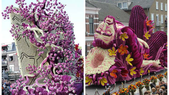 The annual flower parade in Zundert, Netherlands has created some truly must-see remakes of Vincent Van Gogh's art you won't want to miss!