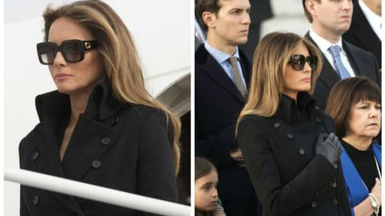 Melania Trump wore sunglasses for the full duration of Thursday's inauguration activities, which included a visit to the Tomb of the Unknown Soldier. People on social media are calling it a social faux pas. What do you think?