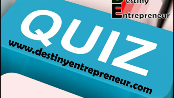 This short 8 question quiz will show you how much of an entrepreneur you truly are. Discover your potential to create the life of your dreams, on your terms.  The new Digital Economy is driven by entrepreneurs and the future growth of global economies rely on the creative nature of the entrepreneurial spirit.  Do you have what it takes?