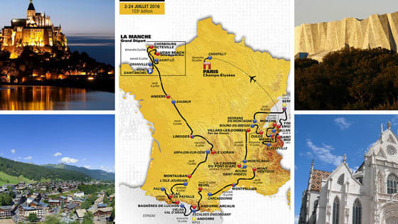 The 3500+ kilometer bike race passes through three countries and some of the most beautiful sights Europe has to offer.