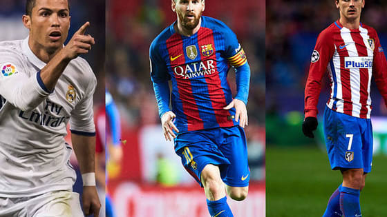 Lionel Messi and Cristiano Ronaldo will go head to head Antoine Griezmann who finished as Euro 2016 top scorer for 2016 FIFA Best Player Award.