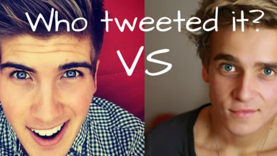 Joey Graceffa and Joe Sugg have a lot in common: legions of fans, YouTube super-stardom and amazing books.   But just how similar are they? Can you tell the difference between Joey and Joe's tweets?