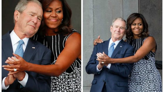 After being photographed hugging at the opening of the National Museum of African-American History and Culture on Saturday, the former president and the current first lady have basically become America's most adorable pals.