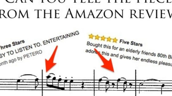 We've taken some choice customer reviews from Amazon, but can you tell which piece of classical music they're referring to?