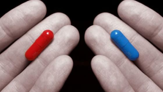 """""""You take the blue pill, the story ends. You wake up in your bed and believe whatever you want to believe. You take the red pill, you stay in wonderland, and I show you how deep the rabbit hole goes."""" -Morpheus"""