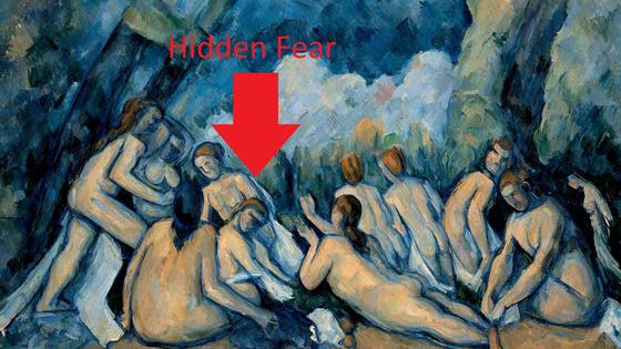 Your anxiety level is revealed by what your eye falls on in paintings like Cezanne's The Bathers. What do you see?