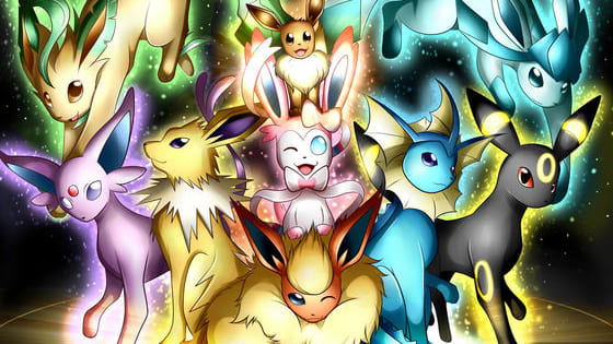 Guess the types of the Eeveelutions.