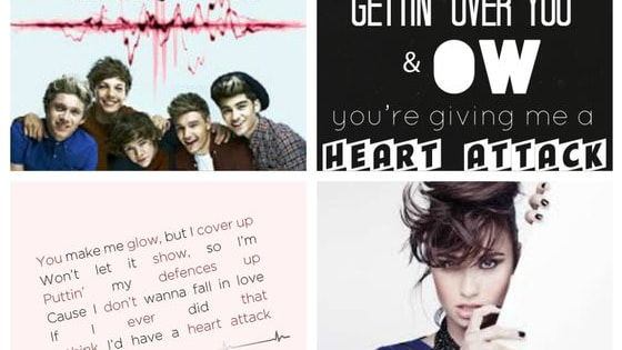 Which heart attack song do you like best? The one by Demi Lovato or the one by One Direction because both were good in their own ways.