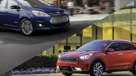 Would you rather drive a Kia Niro or Ford C-Max? Each of these hybrid haulers are family friendly, but that's where the similarities end.