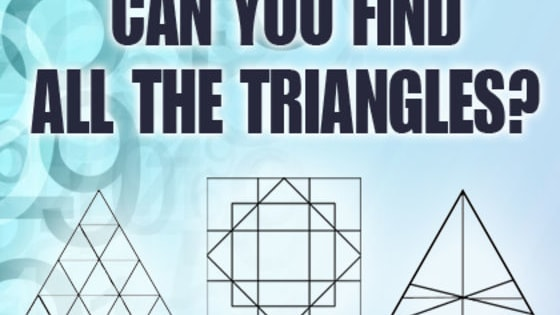 Count the number of triangles you find in the shape, it's harder than you think!