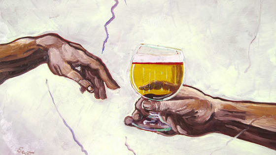 This artist added alcohol to art and it's glorious.
