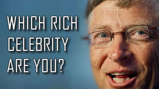 Quickly find this out! Take this simple 5 question quiz and we will tell you which rich celebrity you are. You will be surprised by the results because you will know that it really fits you and your personality.