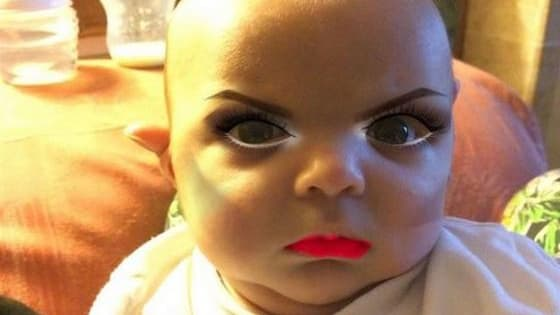 A creative mother used a makeup app on her 7 month old son. What happened next is absolutely priceless!