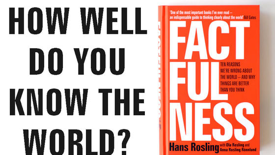 When asked simple questions about global trends we systematically get the answers wrong. So wrong that a chimpanzee choosing answers at random will consistently outguess journalists, Nobel laureates, and investment bankers. See how many of these questions about the world you can answer correctly, and find out more about the power of facts in a post-truth world in Factfulness by Hans Rosling, and his collaborators Anna and Ola.