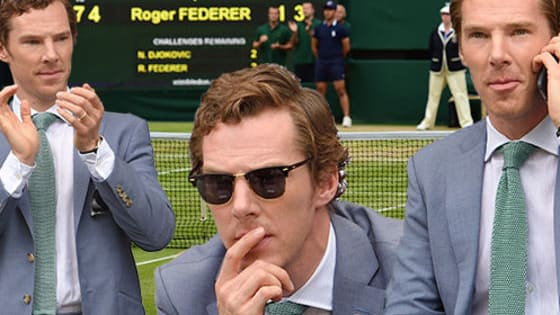 The Sherlock star stole the show at SW19