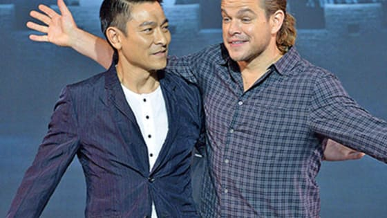 Matt Damon's ponytail made its debut at a press day for 'The Great Wall.'