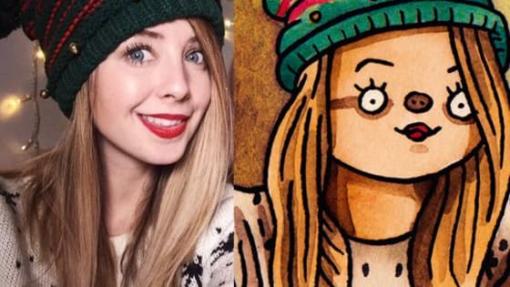 Artist and internet celebrity Shitty_Watercolour has painted a lot of things in his own adorable style; including YouTubers. Can you guess who's in the pictures below?