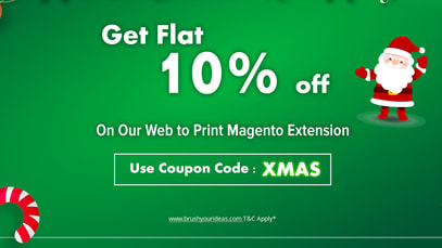 Get 10% Discount on Magento 1 & Magento 2 t-shirt, mug, card, shoe, label, sticker, poster, photo album tool. Use the coupon code XMAS while you are shopping for your favorite software solution from Brush Your Ideas and carve out good times for your business.   Use Coupon code: XMAS  www.brushyourideas.com T&C Apply* https://brushyourideas.com/?utm_source=christmas-S