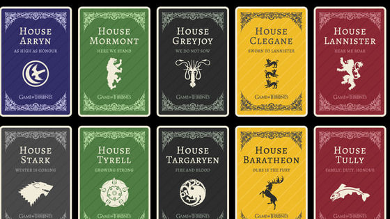 Find out what House you belong to in the hit series Game of Thrones.