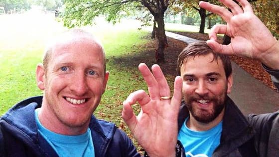 in 2008, Jonny Benjamin was talked away from the edge of a bridge by a stranger who noticed he was about to jump. Now Jonny and that stranger, a man named Neil Laybourn are running the London Marathon together to raise awareness about mental health. Find out more here!