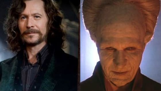 """Some actors always get cast as """"the good guy"""", while others seem to always play """"bad guys"""". Gary Oldman is shown as """"Sirius Black"""" from Harry Potter, and also as """"Dracula"""" from Dracula (1992). Here are 20 other Actors who have played both great antagonists AND you can flip to see their great antagonist!"""