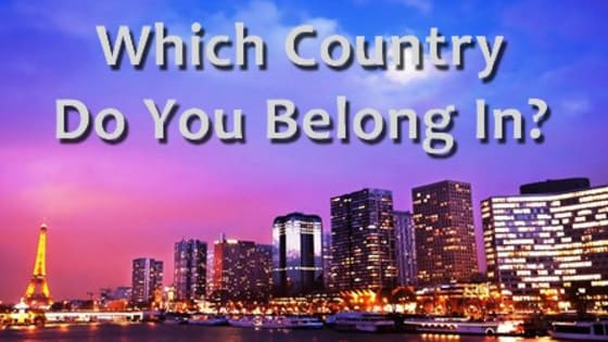 Do you belong in Paris, Europe, South Africa, or India? Answer a few questions to find out which country fits you best! Answer questions about your personality and much more. For more personality quizzes, go to www.MoneyProbs.com & don't forget to FOLLOW us on facebook www.Facebook.com/moneyprobs Thank You!