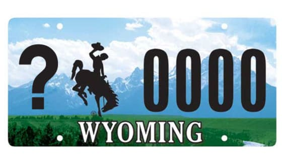 Wyoming has 23 counties. Can you match up every license plate to the correct county?