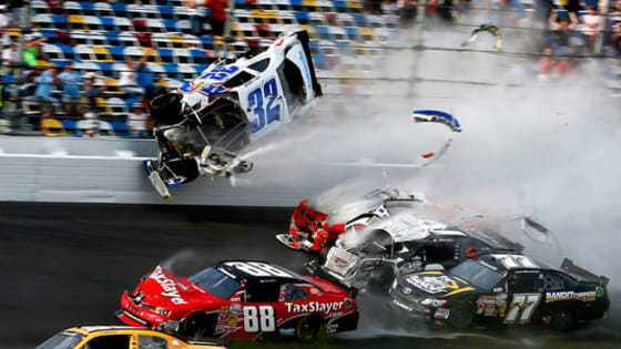 We're just a month into the NASCAR Sprint Cup Series season! Can you guess the drivers involved in the these epic crashes over the last several decades? Brought to you by www.uniqueautobody.com