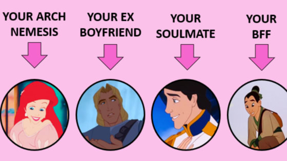 This simple quiz will tell you who your Disney Nemesis, Ex, True Love, and BFF would be! Find out your Disney destiny!