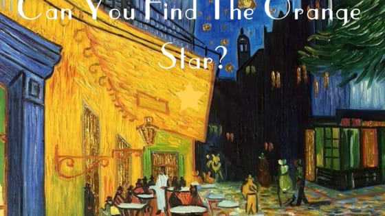 Whether it was sunflowers or a starry night, Van Gogh tended to use quite a bit of orange-yellow hues in his work, so it may be more challenging than you'd think to find the big orange star we've hidden in plain sight! Test yourself here!