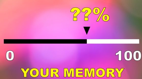 From 1-100, how strong is your memory?