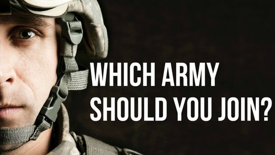 Which army are you best suited for? Are you tough enough for the U.S. Army? Adventurous enough for the Foreign Legion? Let's find out!