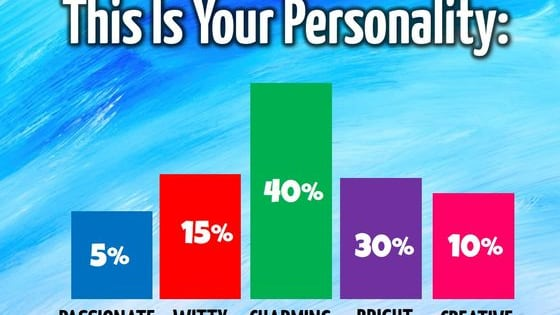Your personality can be divided in up to 6 ways.