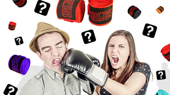 Answer a few questions about your training habits and preferences, and you will find out which hand wraps fit your fighter's needs the most!