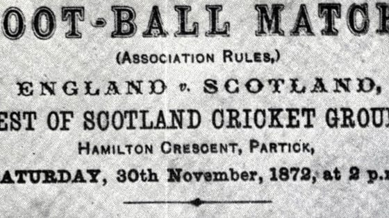 Amazing historical quiz about the very first England vs Scotland game