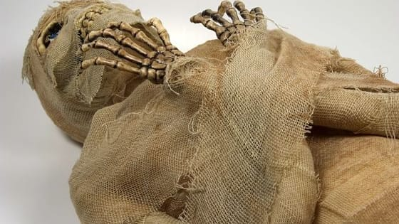 Creepy mummy with well-preserved clothing has some suggesting time travel happened.