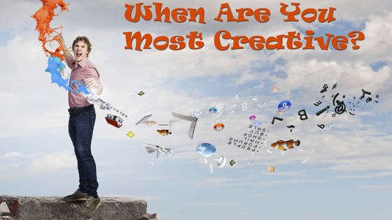 Creativity can be a mystery, but we all know it when it strikes. When is your imagination at its best?