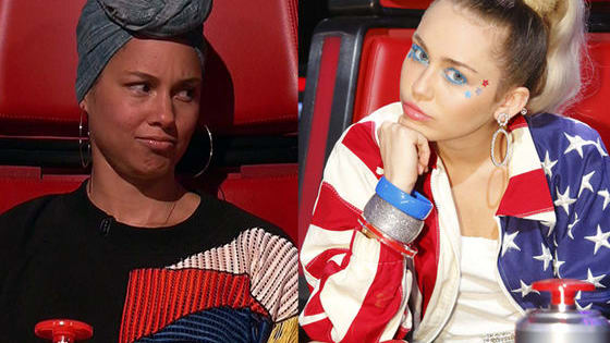 Could the two new coaches on 'The Voice' be feuding because of Alicia's no-makeup movement?!