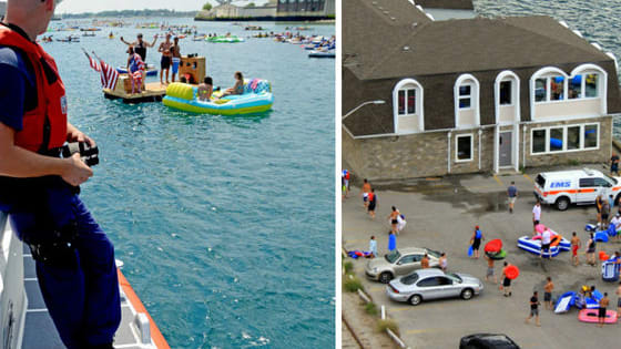 An annual rafting event suddenly turned into an international incident when over 1500 people attending the Port Huron Float Down were blown over the border by high winds!